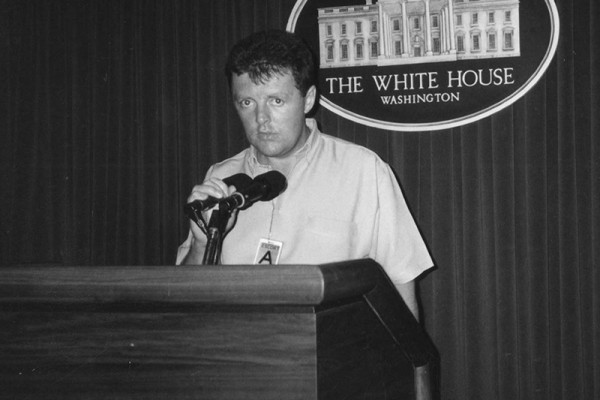 Myself inside the White House - during our honeymoon - 2000.